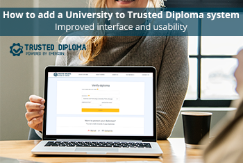 How to add records to Trusted Diploma. Improved interface and usability