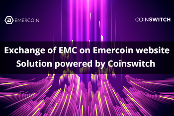 Cryptocurrency exchange for EMC on Emercoin website