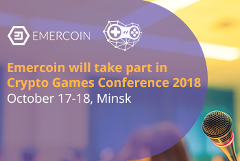 Emercoin will take part in Crypto Games Conference 2018