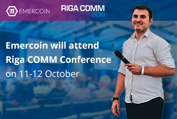 Emercoin will visit RIGA COMM conference