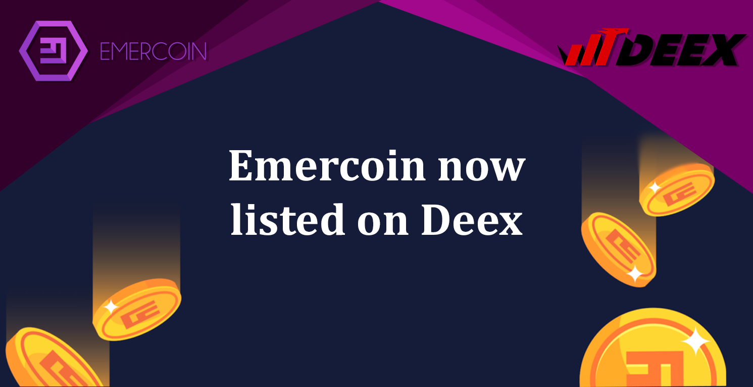 Emercoin now listed on Deex