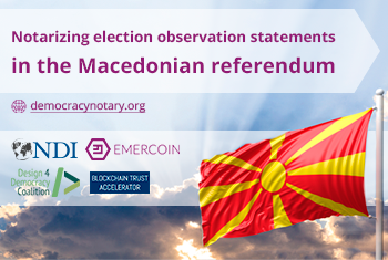 Macedonia Referendum Provides an Opportunity to Beta Test Blockchain-Powered Notarization Platform