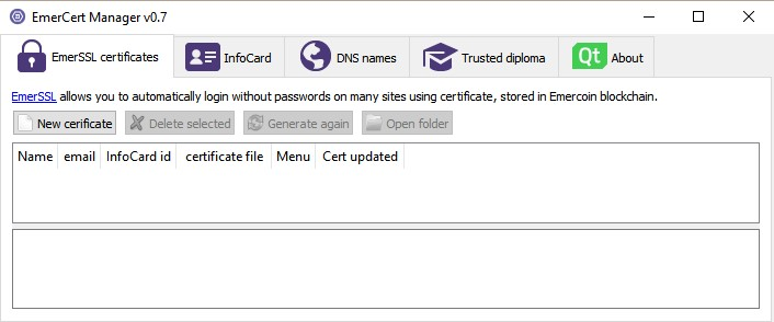 Trusted Diploma GUI from EmerCert